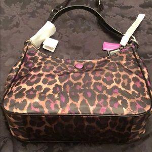 Brand new violet jaguar Coach hobo bag.